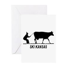 Ski Kansas Greeting Card