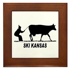 Ski Kansas Framed Tile