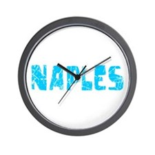 Naples Faded (Blue) Wall Clock