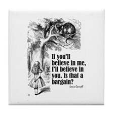 "Carroll ""Believe In Me"" Tile Coaster"