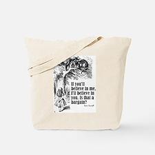 """Carroll """"Believe In Me"""" Tote Bag"""
