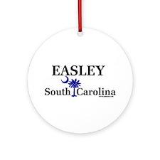 Easley South Carolina Ornament (Round)