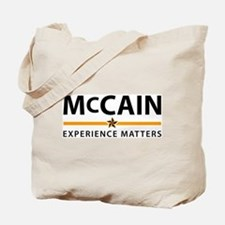 McCain: Experience Matters Tote Bag