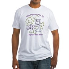 I Improve With Wine Fitted T-Shirt