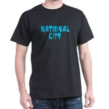 National City Faded (Blue) T-Shirt