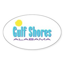 Gulf Shores - Oval Decal
