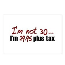 I'm not 30 (30th Birthday) Postcards (Package of 8