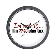 I'm not 30 (30th Birthday) Wall Clock