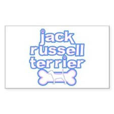 Powderpuff Jack Russell Rectangle Decal