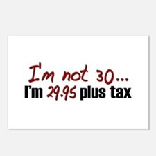 $29.95 Plus Tax (30th Birthday) Postcards (Package
