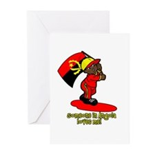 Someone in Angola loves me! Greeting Cards (Pk of