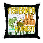 Born Honest Throw Pillow