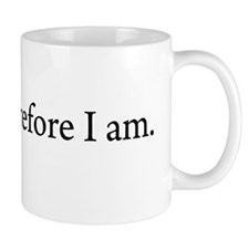 I write Therefore I am Coffee Small Mug