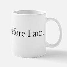 I write Therefore I am Coffee Small Small Mug