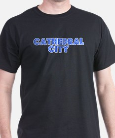 Retro Cathedral City (Blue) T-Shirt