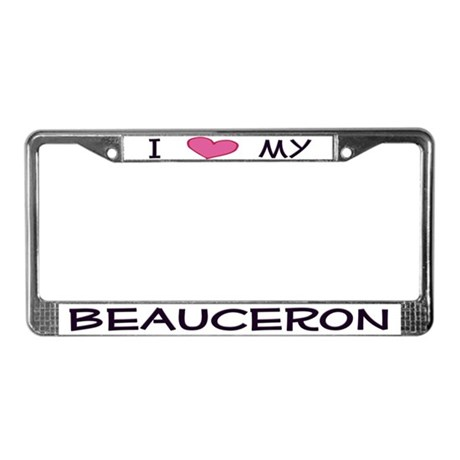 Love My Beauceron License Plate Frame