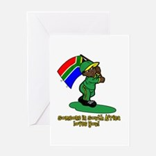 Someone in South Africa loves me! Greeting Card