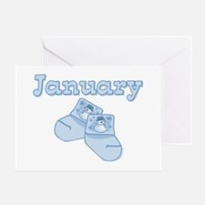 Baby Socks January Greeting Card