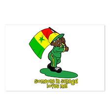 Someone in Senegal loves me! Postcards (Package of
