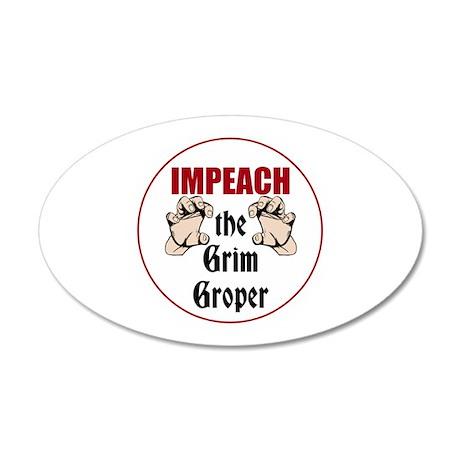 Impeach the grim groper Wall Decal