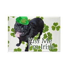 Irish Pug Rectangle Magnet
