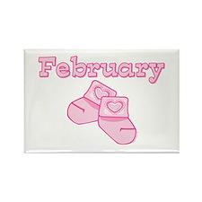 Baby Socks February Rectangle Magnet