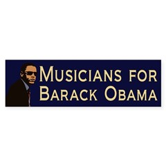 Musicians for Obama bumper sticker
