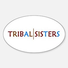 Tribal Sisters Oval Decal