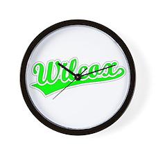Retro Wilcox (Green) Wall Clock