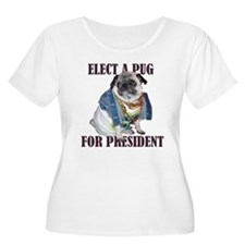 Pug for President Plus Size Scoop Neck T-Shirt