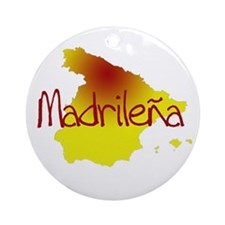 Madrilena Ornament (Round)
