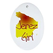 Jerez Girl Oval Ornament