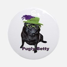 Pugly Betty Ornament (Round)
