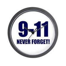 9-11 Never Forget Wall Clock
