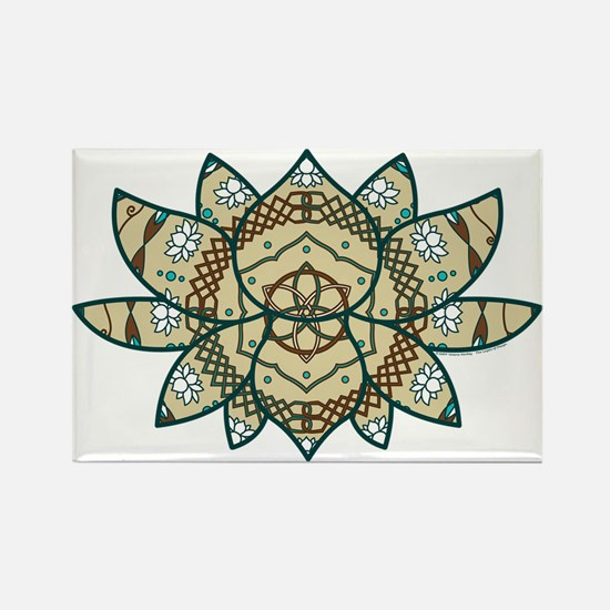 The Lotus Rectangle Magnet