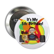 "Racing Car 5th Birthday 2.25"" Button (10 pack)"