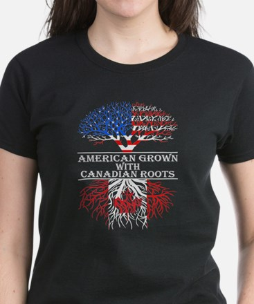 American Grown With Canadian Roots T-Shirt