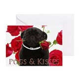 Black pug Stationery