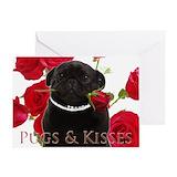 Black pug Stationery