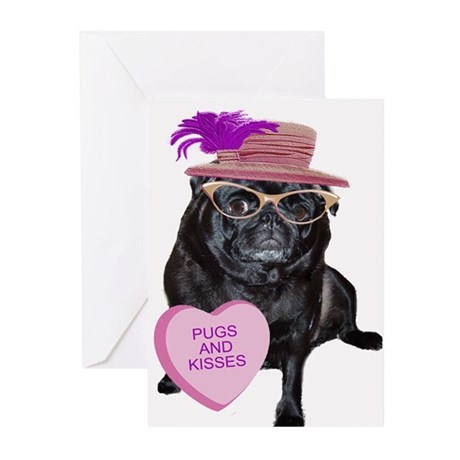 Pugs and Kisses Greeting Cards (Pk of 20)