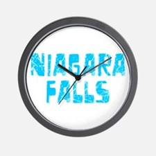 Niagara Falls Faded (Blue) Wall Clock