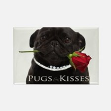 Pugs and Kisses Rectangle Magnet