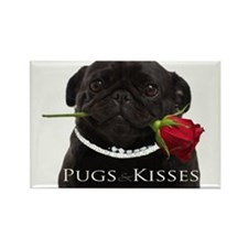Pugs and Kisses Rectangle Magnet (100 pack)