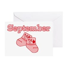 Baby Socks September Greeting Card