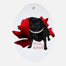 Pug Oval Ornament