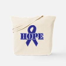 Purple Hope Ribbon Tote Bag