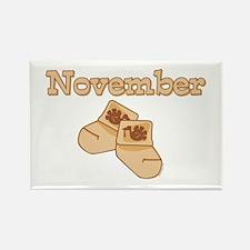 Baby Socks November Rectangle Magnet