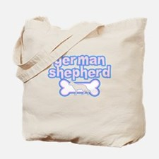 Powderpuff German Shepherd Tote Bag