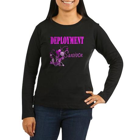Deployment Survivor Women's Long Sleeve Dark T-Shi