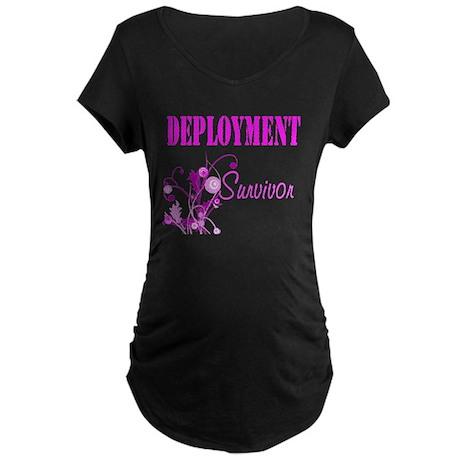 Deployment Survivor Maternity Dark T-Shirt